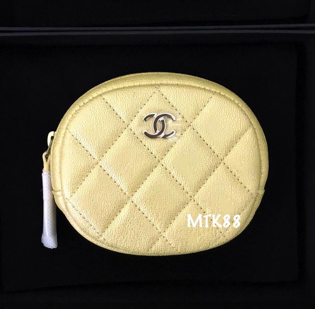 5e4e3188b767d4 CHANEL 19S Iridescent yellow purse, Luxury, Bags & Wallets, Wallets ...