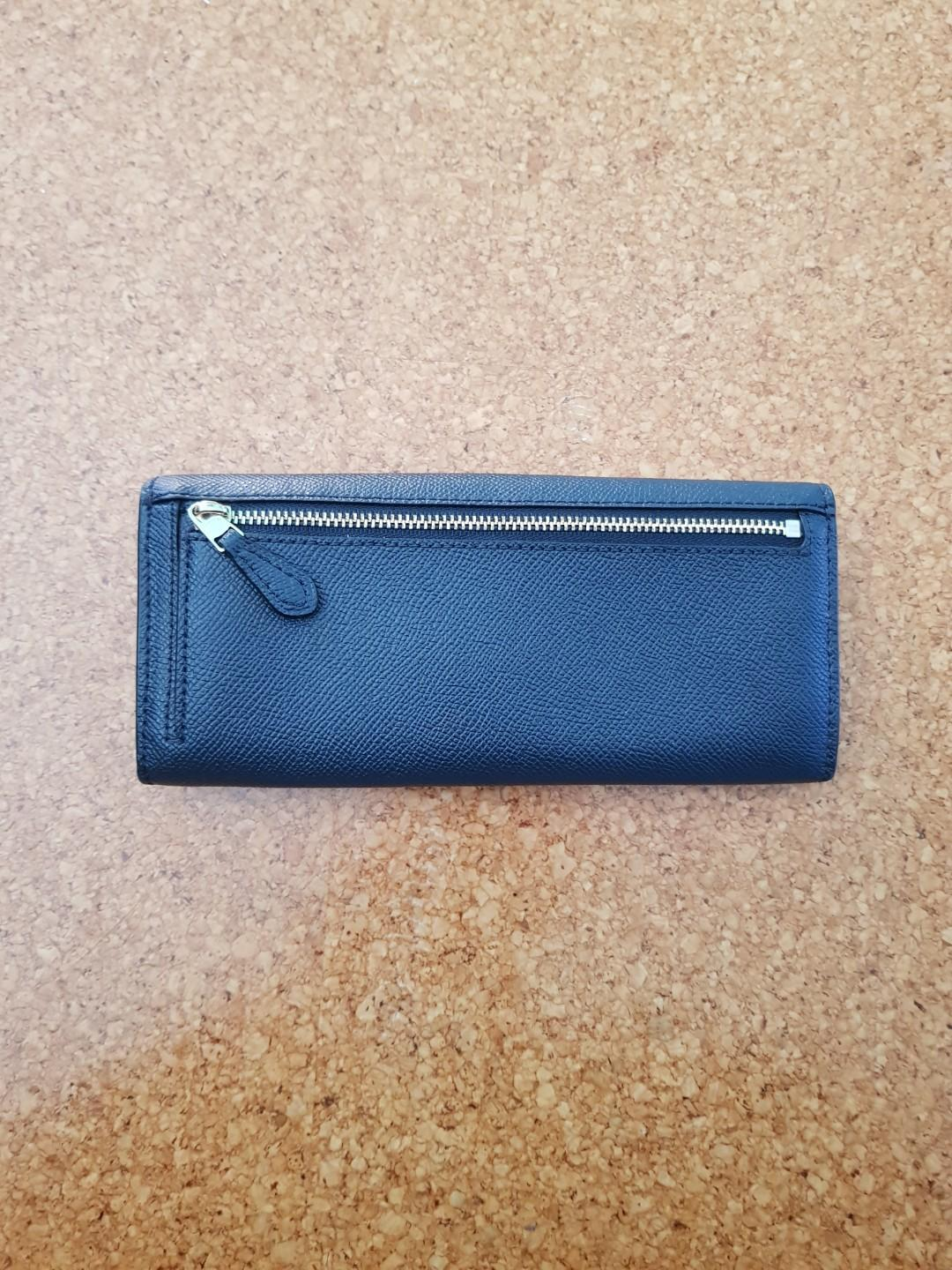 Coach Crossgain leather Wallet( Navy)
