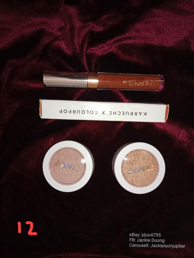 Colourpop Bundle 12: 'Kae' matte lip,  Highlights- candyman, butterfly beach