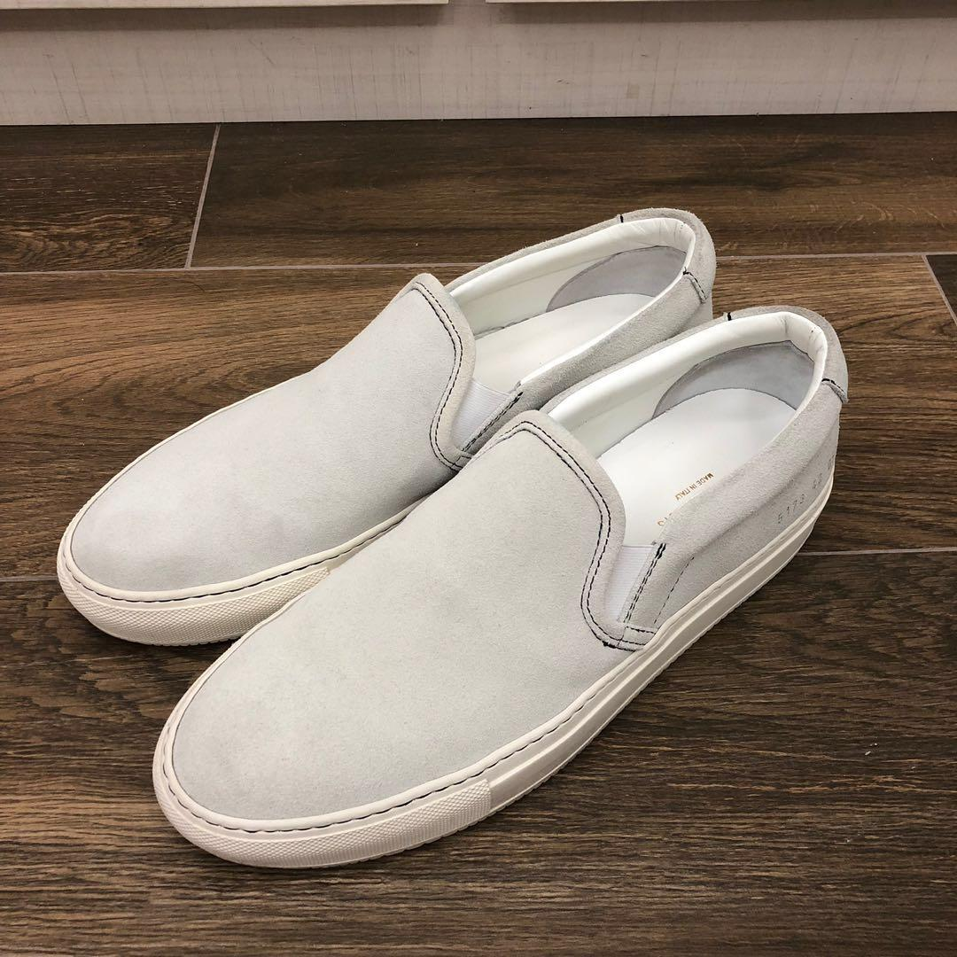 Common Projects Off-White Suede Slip On