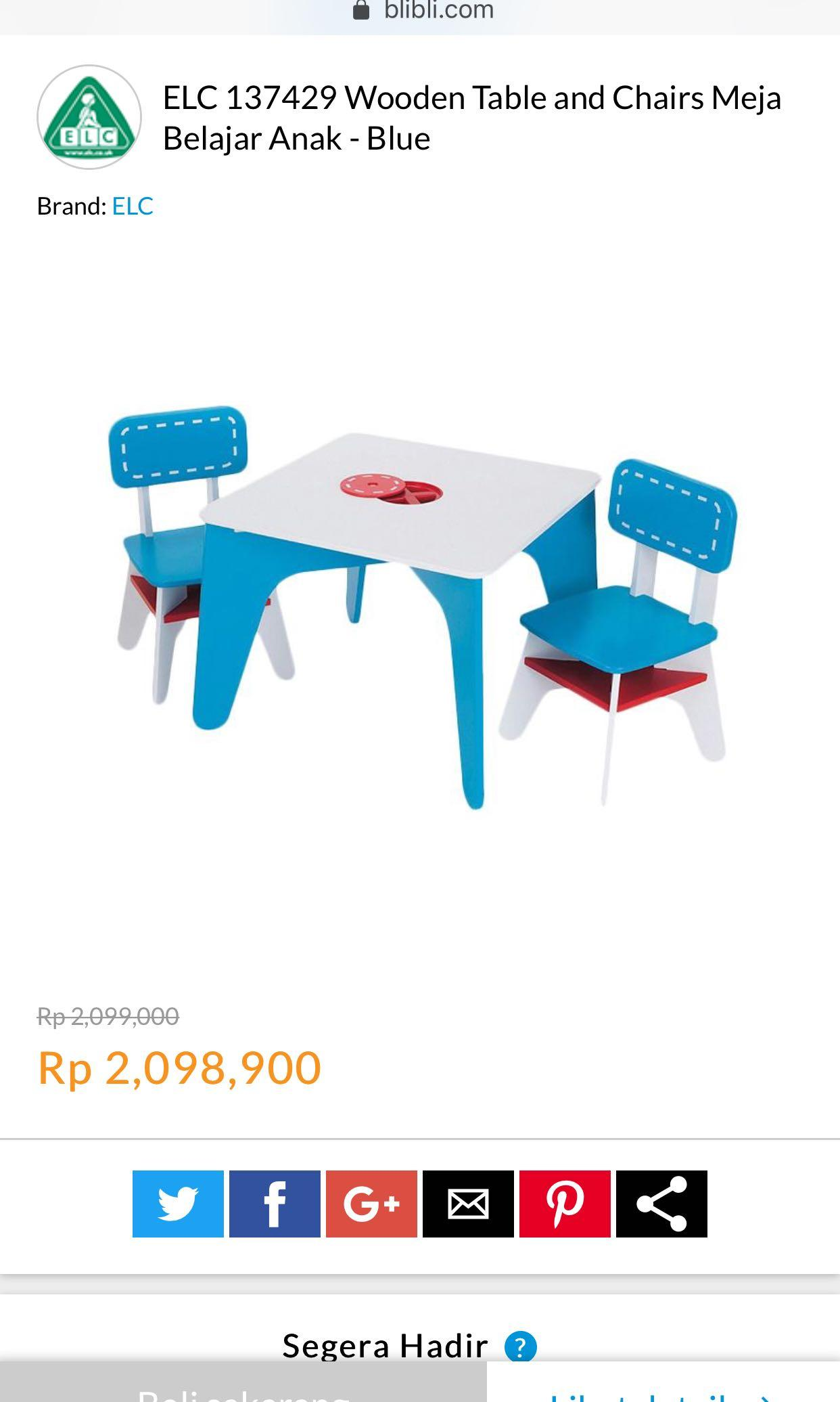 ELC Wooden Table n cairs