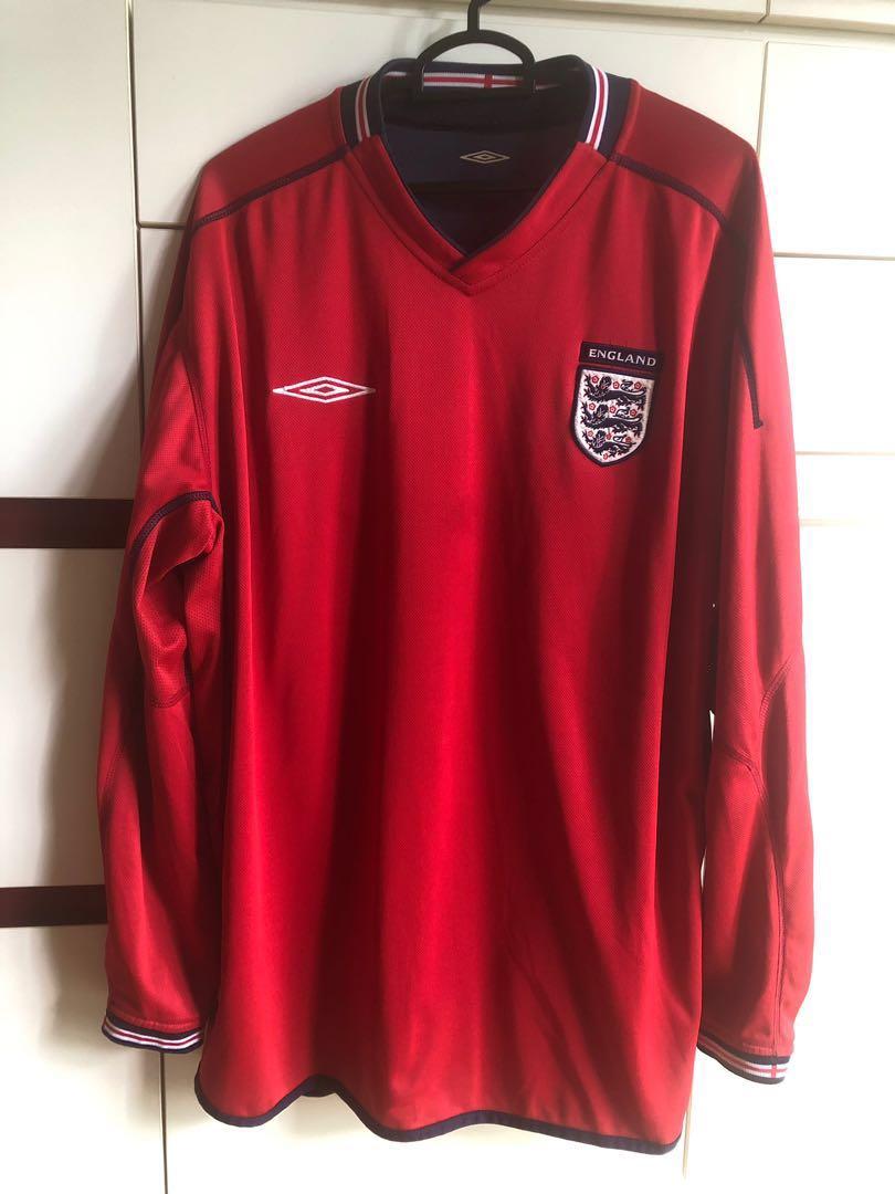8b82dc32d97 England national team reversible Soccer Football Long sleeve jersey ...