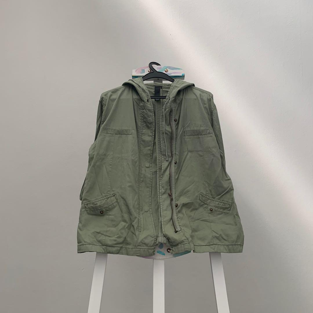 Factorie Army Green Parka
