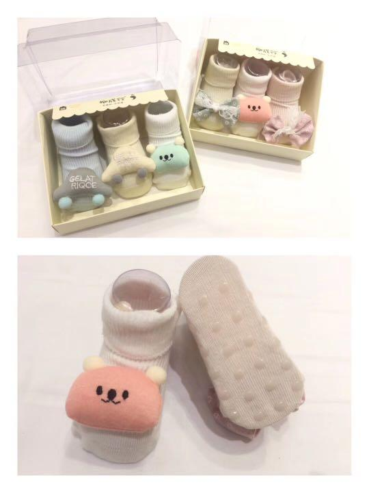 FREE MAILING💌3in1 Baby Rattle Socks for NB-6 months