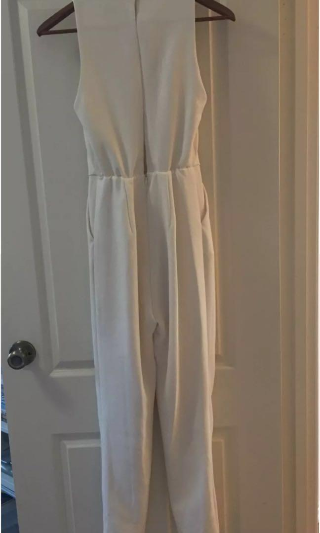 Gorgeous White Kookai Jumpsuit - Size 34 (6) - BNWOT