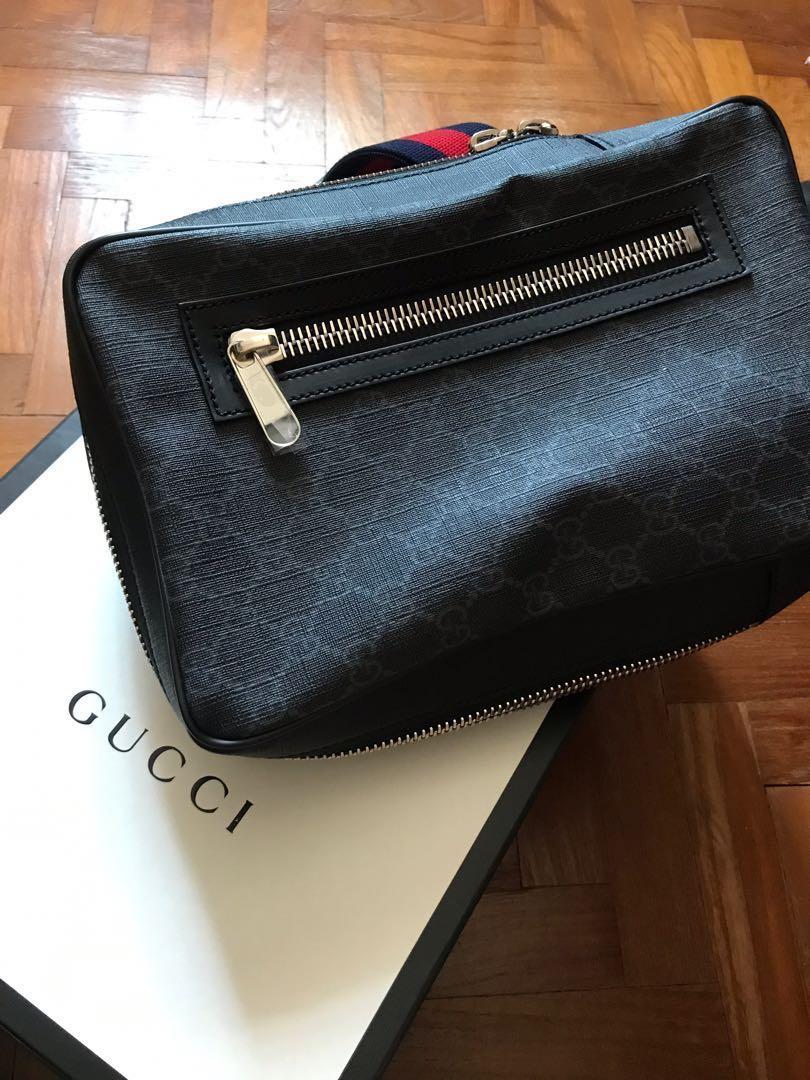 ed4493bdf Gucci GG Supreme Sling Bag, Men's Fashion, Bags & Wallets, Sling ...