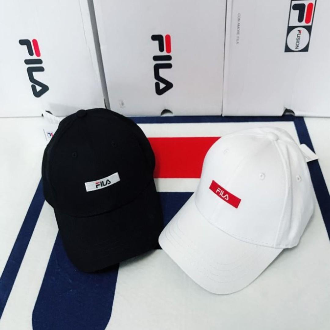 【HYPED.】Authentic Fila Embroidered Logo Cap