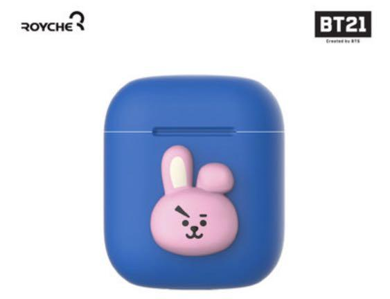 In stock! BT21 Cooky Apple Airpods Silicone Case Sleeve
