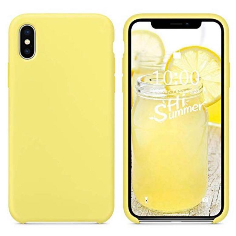 new concept 86e4d 9e72e iPhone XS Max yellow silicone case