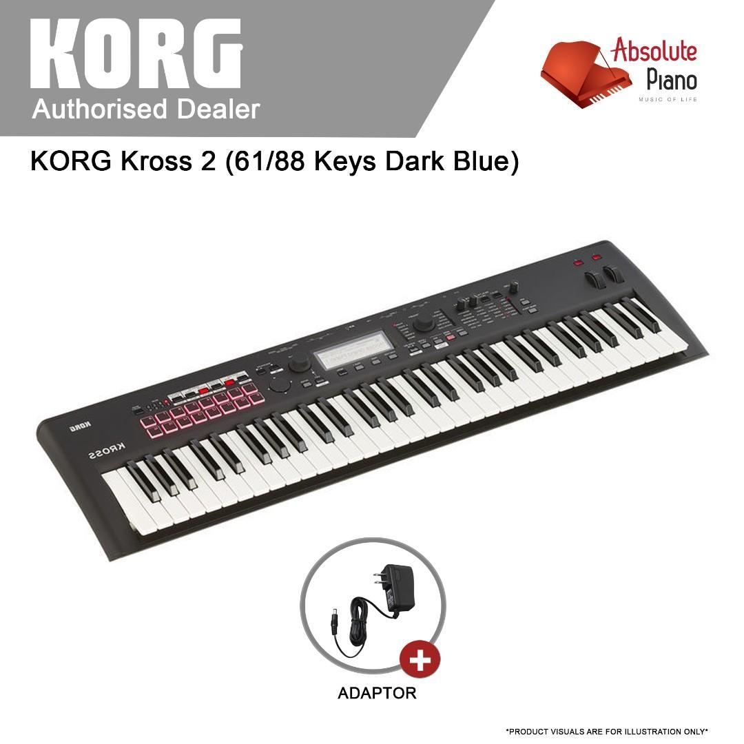 KORG Workstation: Korg Kross 2 (Dark Blue), Music & Media