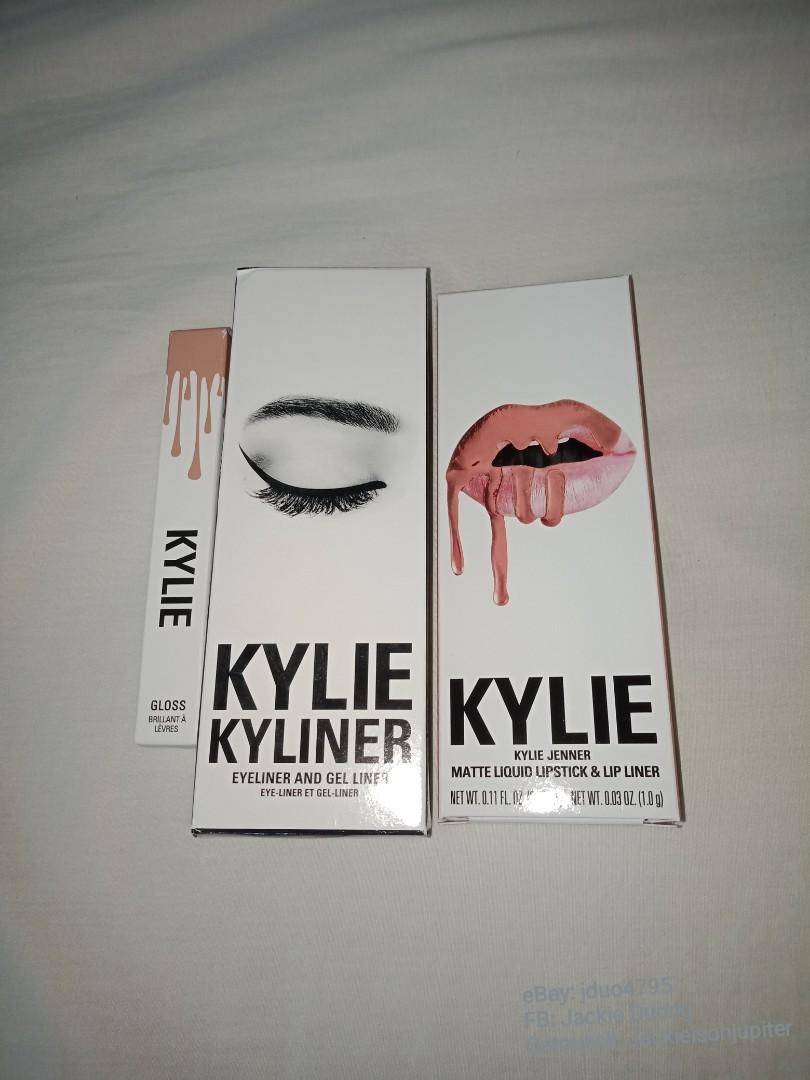 Kylie Black Gel Liner Kit, Apricot Lip kit, So cute gloss