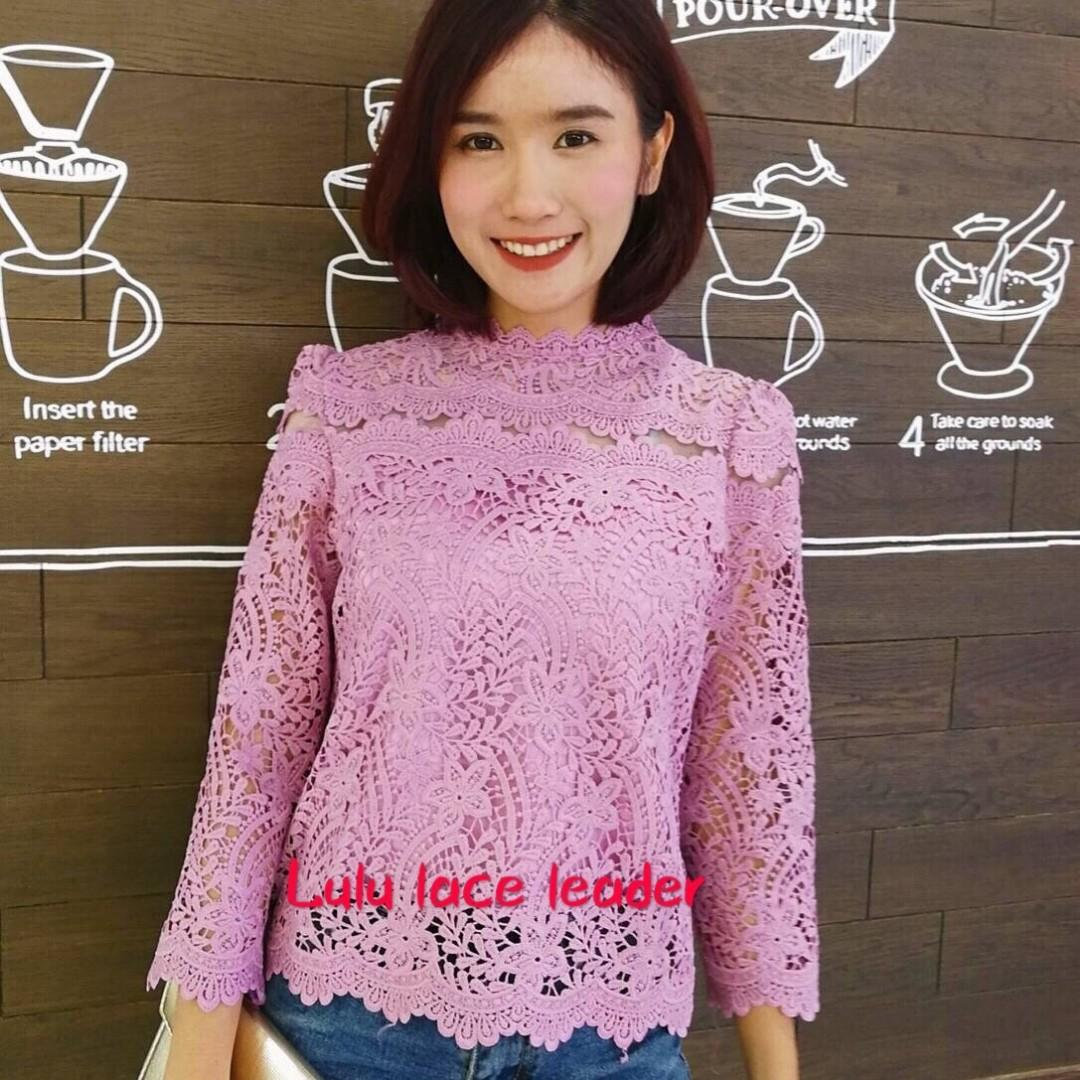 Lace top pink