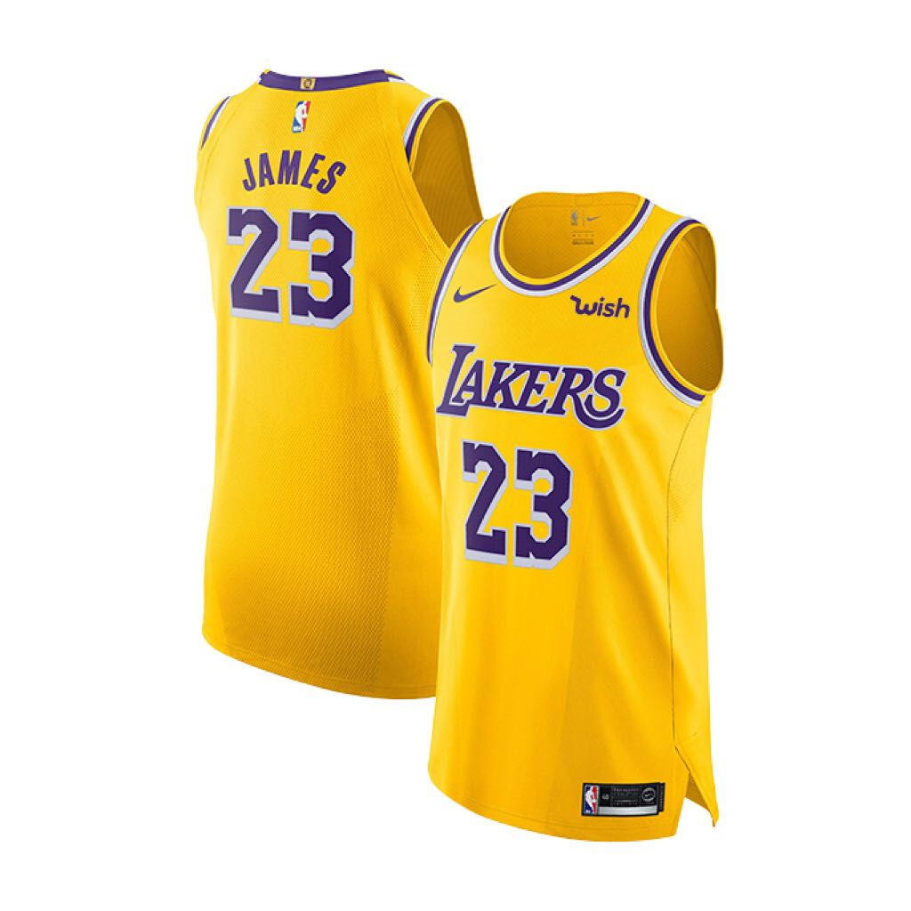 23f7b43f649 Lakers LeBron James Icon Edition Authentic Jersey with Wish Patch ...