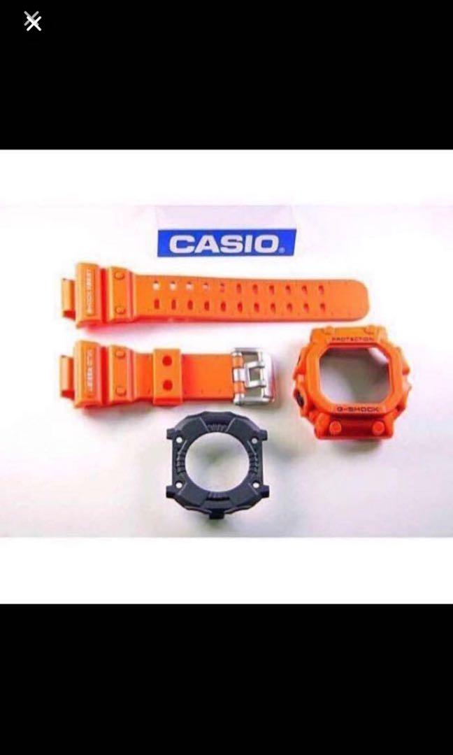 New Authentic sealed Casio G-Shock GX-56-4 GXW-56-4 orange King Band, Bezel & Rear Cover Set