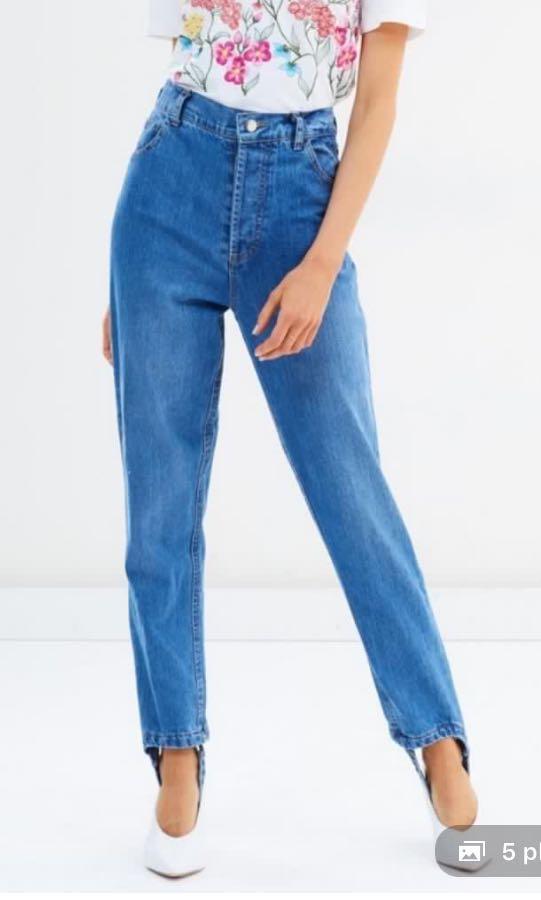 NEW MLM the label RRP$169 stirrup Denim mom boyfriend jeans