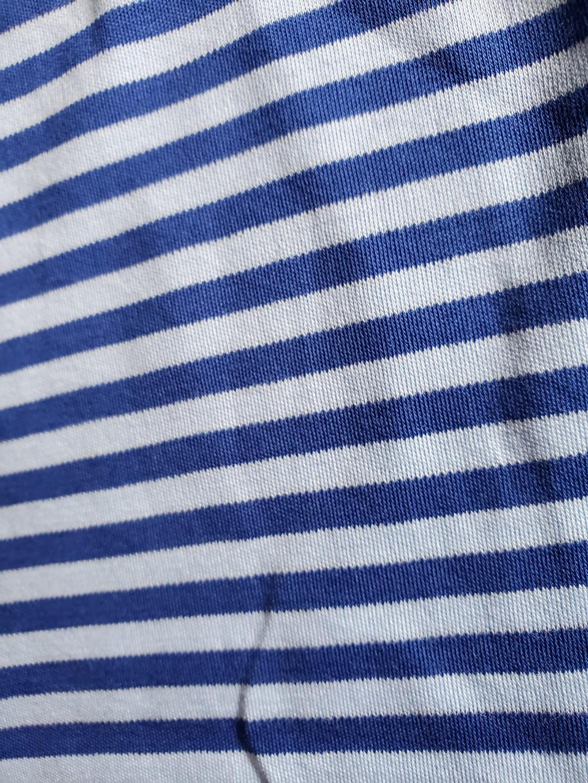 NWT Polo Ralph Lauren blue stripe jersey soft  Tee slim M