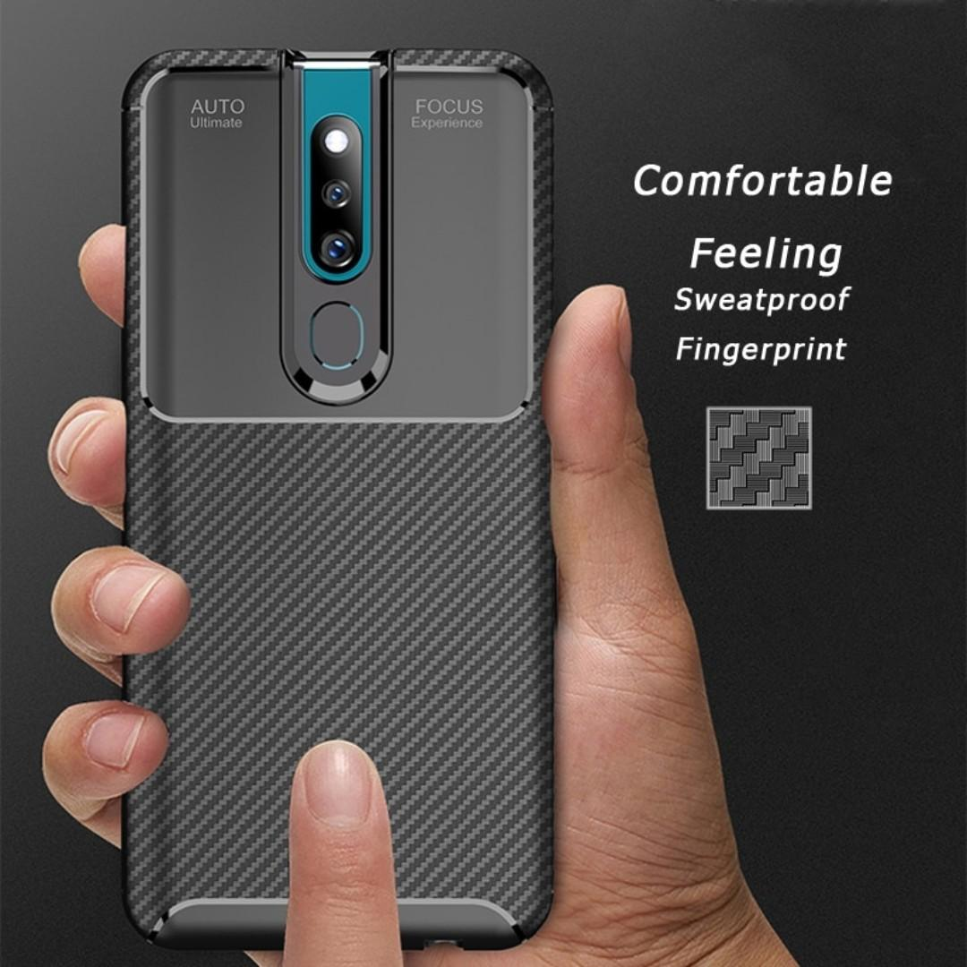Original Case Oppo F11 Pro Softcase Shockproof Carbon