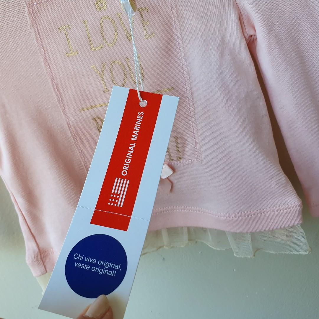 ORIGINAL MARINES Baby Girls Long Sleeve Top Size 3-6 Months BNWT