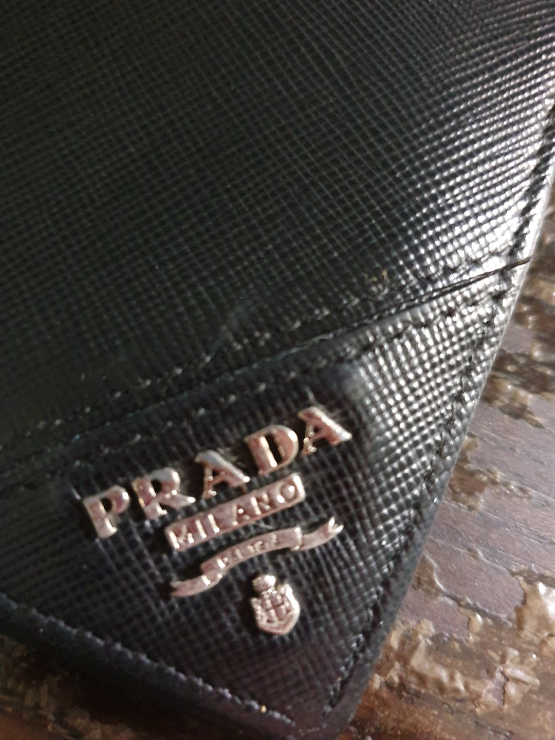 3e05c9954f22 Prada Saffiano Classic Men's Wallet, Luxury, Bags & Wallets, Wallets on  Carousell