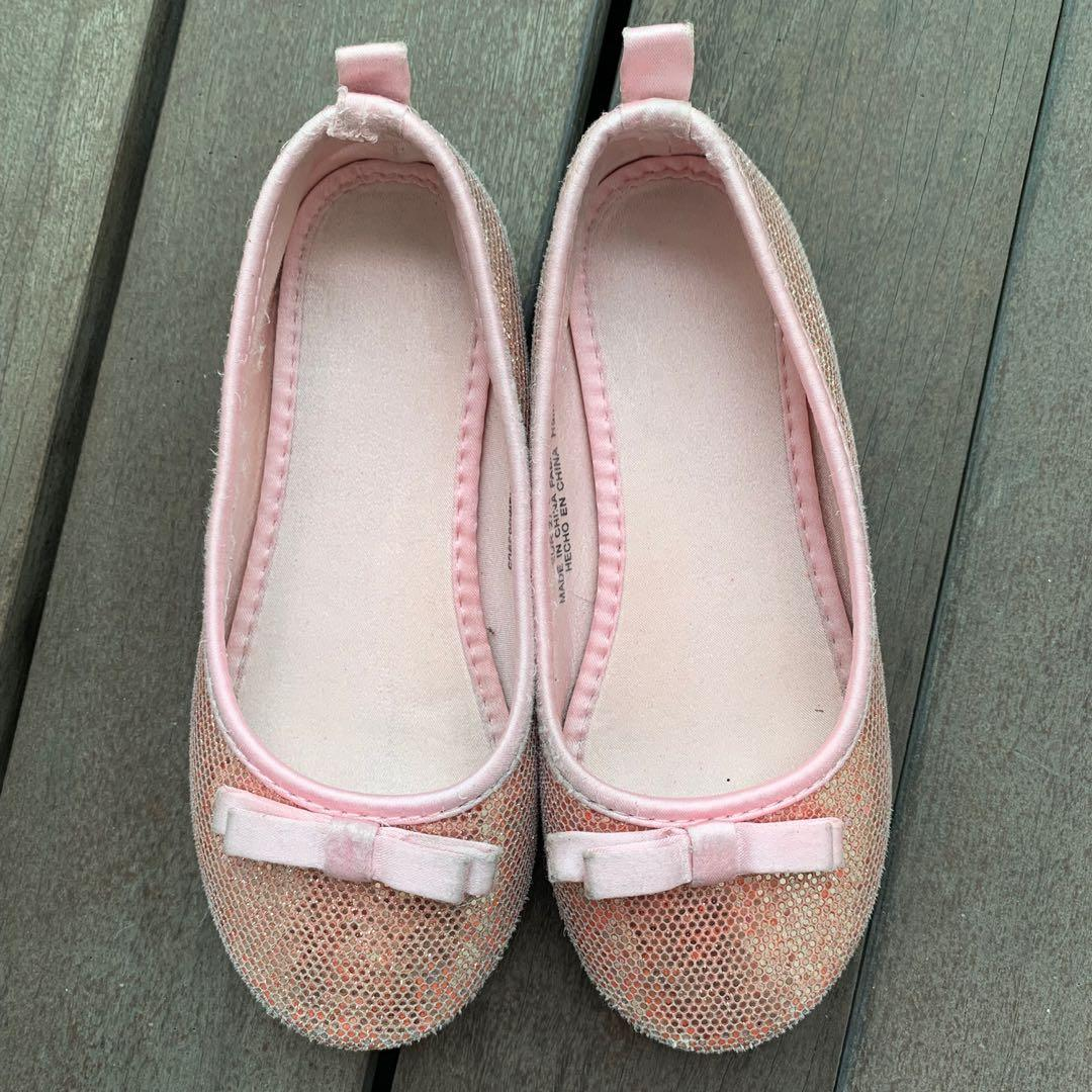 (Pre loved ) H&M Girl Glitter Flat Shoes #ENDGAMEyourEXCESS