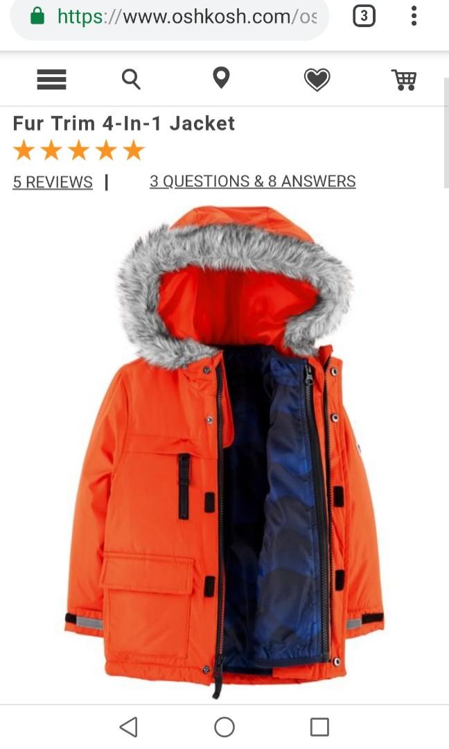 cad957fc7 Preloved Authentic Osh Kosh Winter Down Jacket