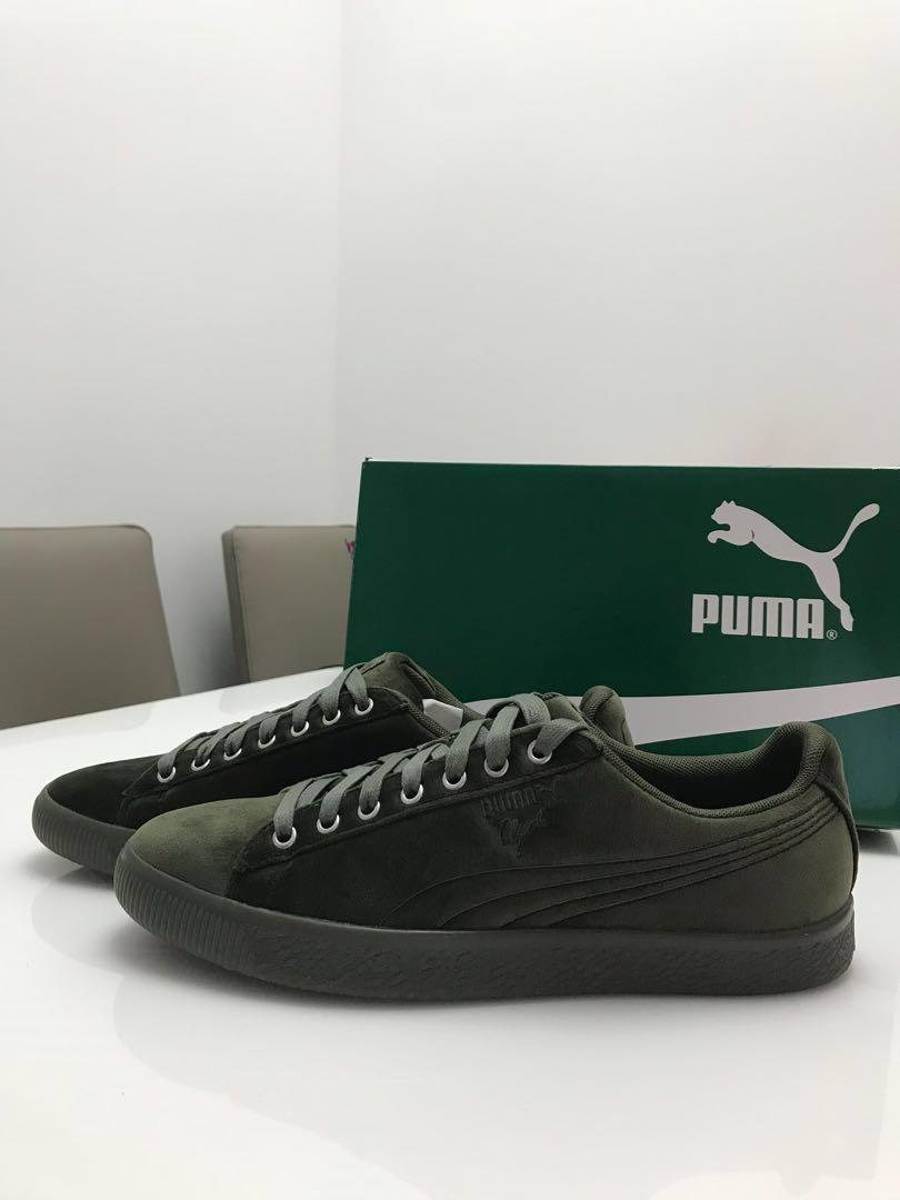 bas prix 64580 b61cb Puma Clyde suede velour green, Men's Fashion, Footwear ...