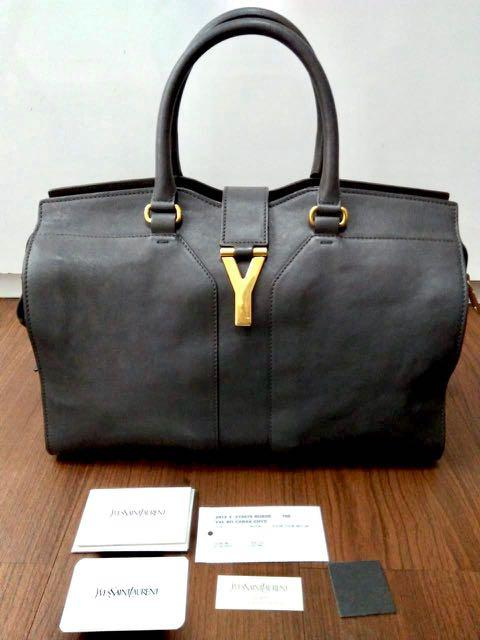 REPRICE! 2012 YSL Cabas 36 X 15 X 27 Cm. kelengkapan: Db, booklet, yearcard , tag, sample leather