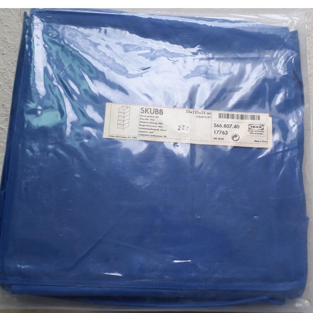 Sealed Ikea Skubb 5 Hanging Storage, 35x120x35 cm, Blue