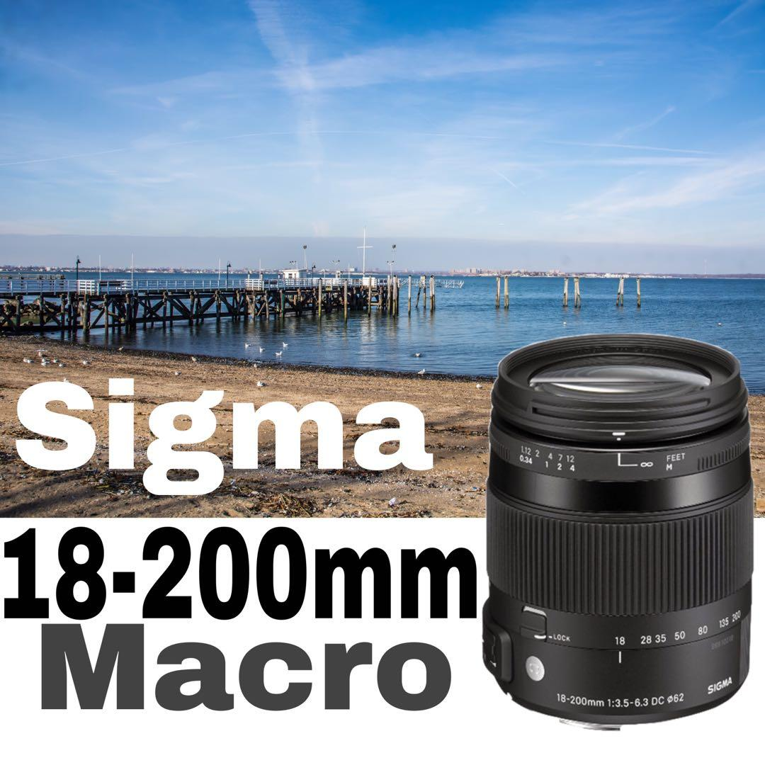 Sigma 18-200mm f/3.5-6.3 DC Macro HSM Lens For Canon And Nikon
