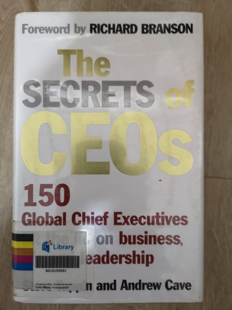 The Secrets of CEOs #ENDGAMEyourEXCESS