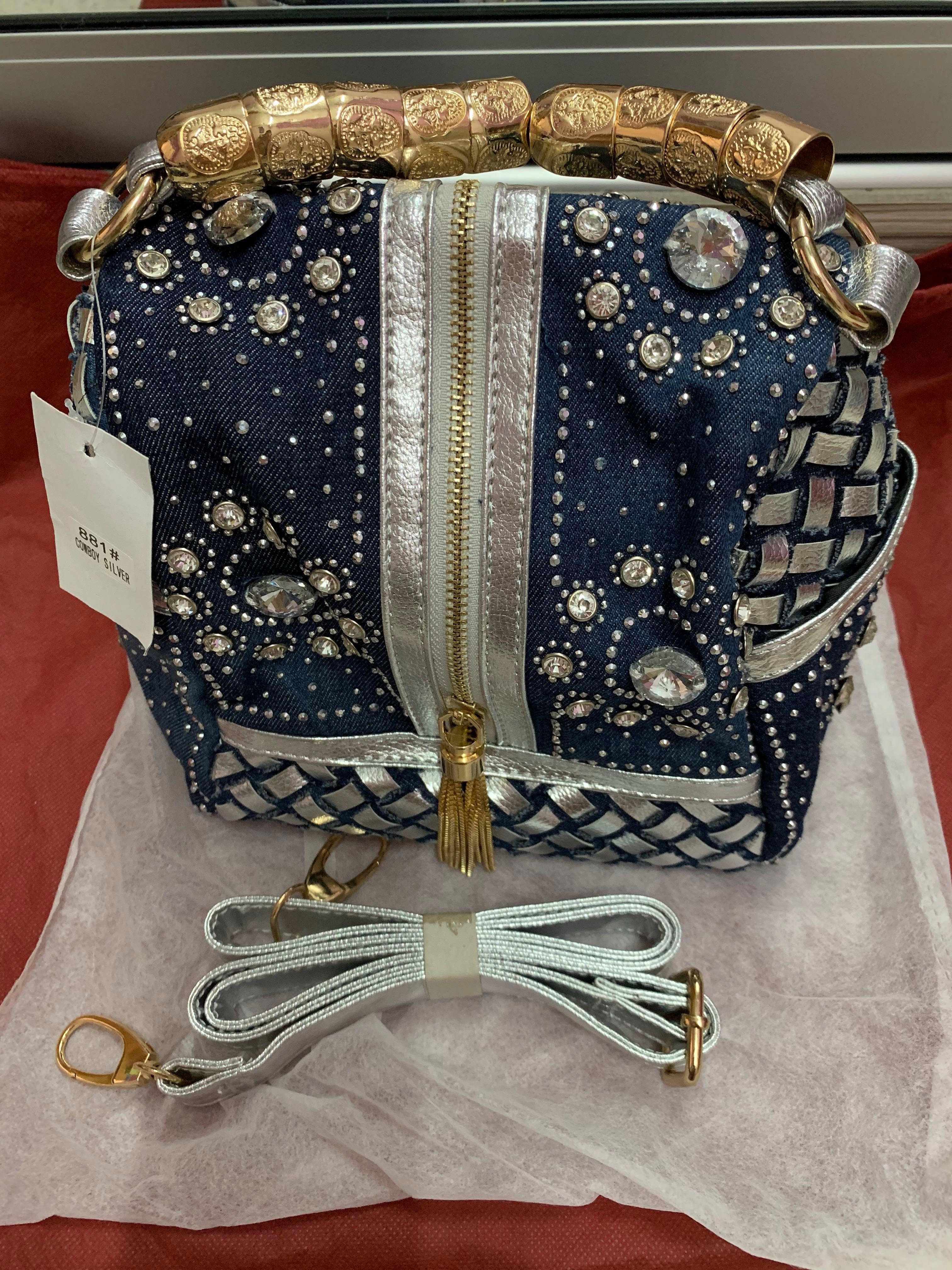 Very attractive unique vintage bead embroidered Korean made handbag