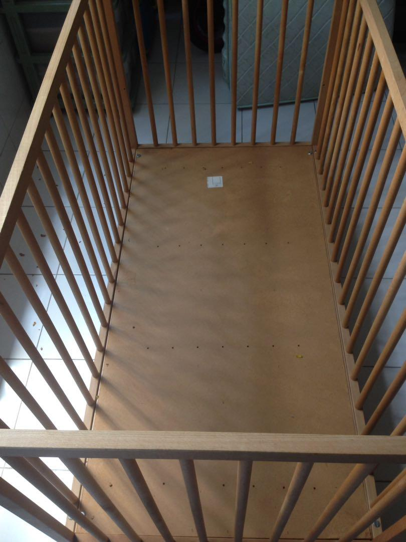 Wooden baby cot for sale