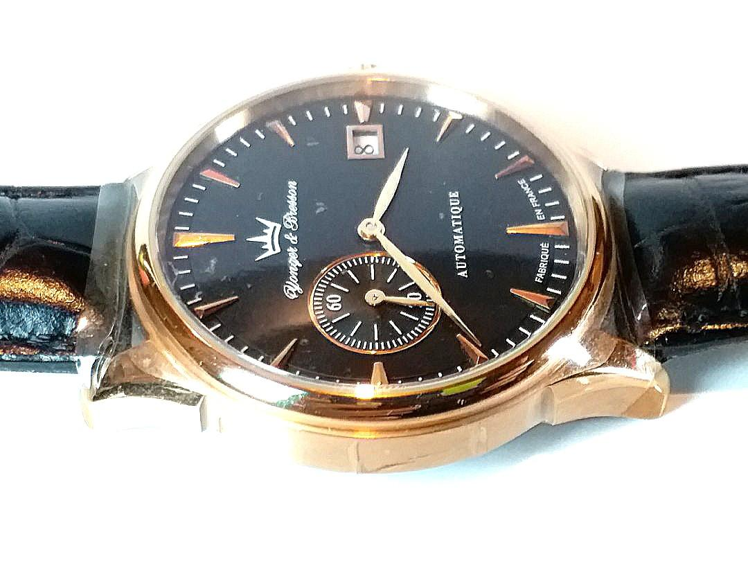 Yonger & Bresson ~雍加畢索~Made in France,  機械自動,40mm,全新有原庄錶盒