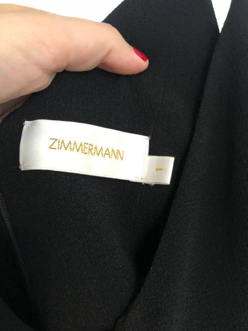 Zimmermann Cutout Embellished Crepe Jumpsuit Black Women's clothing jumpsuits full length