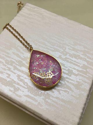 幻彩櫻花吊嘴頸鏈 Sakura pendant necklace
