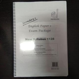 PhD Education Secondary 3 English Paper 1 Exam Package #MRTSengkang