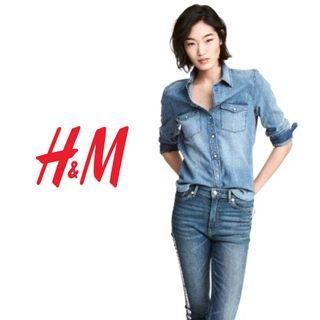 H&M   Tapered Denim Shirt