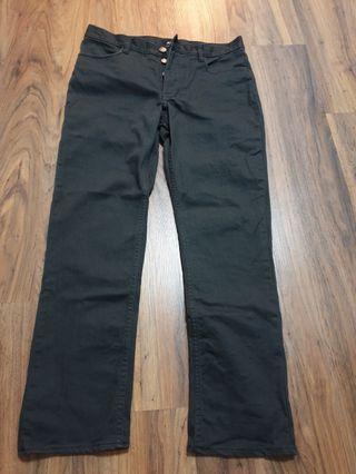 H&M men's Black slim fit Jeans button fly