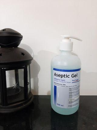 Aseptic gel alkohol gel anticeptic hand hygine