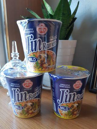 JIN CUP RAMEN 3 FOR 165 PESOS ONLY👍 Made in Korea