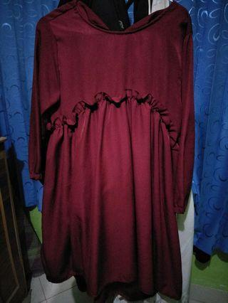 Tunik merah maroon