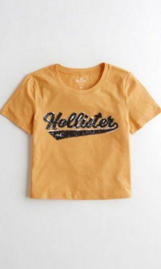 🚚 HOLLISTER easy sparkles tee in mustard