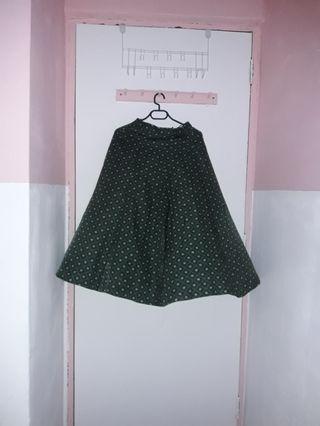 retro vintage midi skirt japan
