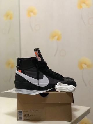 🚚 USED Nike x Off White The 10: Blazer Mid Grim Reaper US10.5