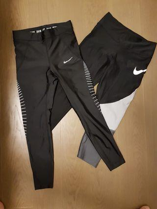 Retail $150 2×Nike Woman's tights Small