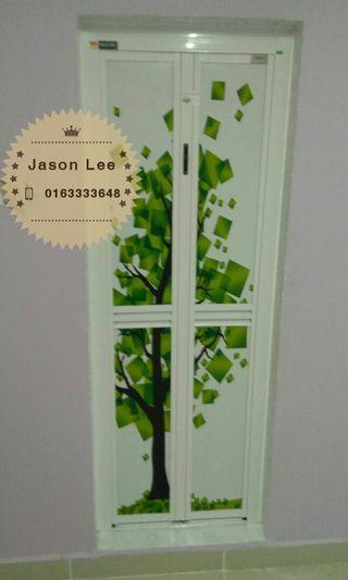 pintu lipat aluminum (bi fold door)n1922