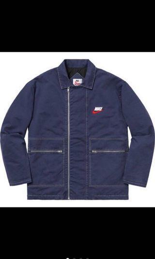 Supreme Nike double zip work jacket