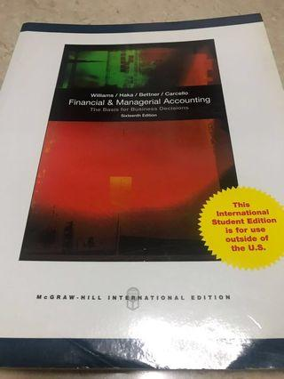 Financial & Managerial Accounting Textbook