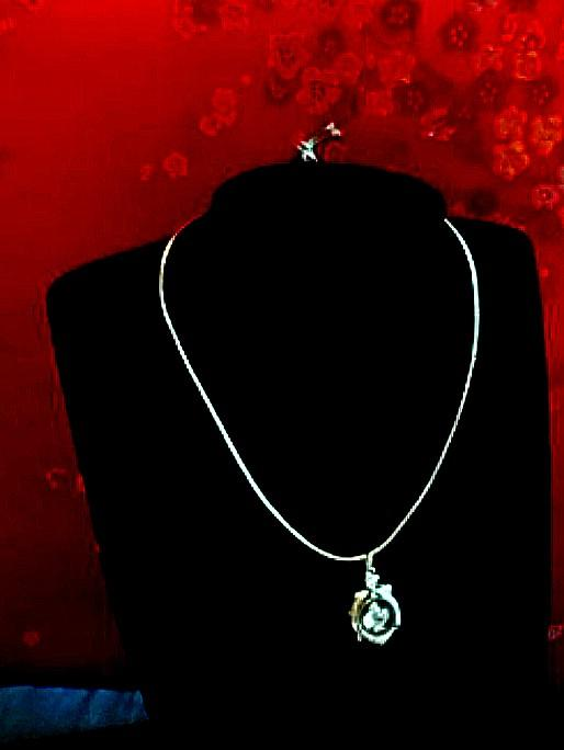 0087#18k revolving pendant <時來運轉>吊咀項鍊(without chain)