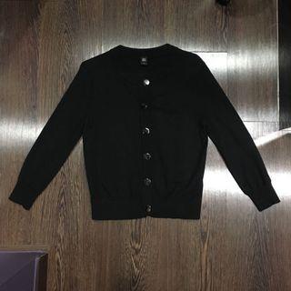 GG<5 GG5 Silver Buttons Black Cardigan